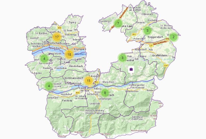 Health care & welfare in Klagenfurt County