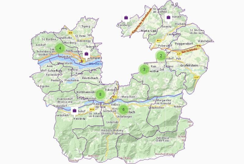 Versorgung / Recycling in Klagenfurt Land