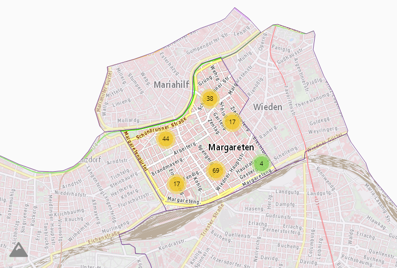 Транспорт в Wien  5.,Margareten