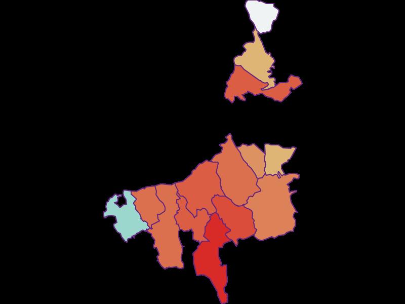 Прирост населения за 1900-2018 | Бургенландское нагорье