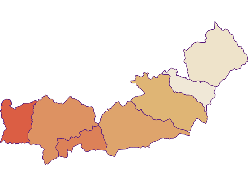 Прирост населения за 2011-2018 | район Ноймаркт- Обдах