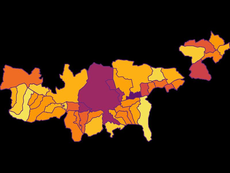 Плотность населения в Mittleres Inntal