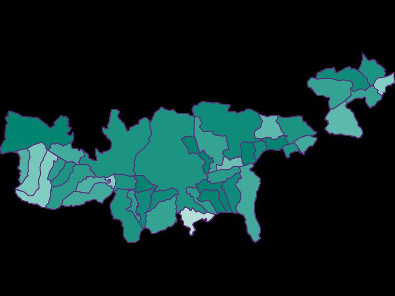 Демография с 1869 года в Mittleres Inntal