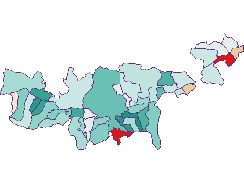 Демография с 2011 года в Mittleres Inntal