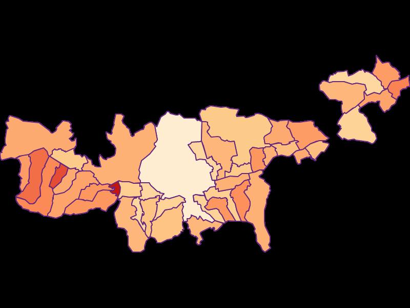 Размер домохозяйства в Mittleres Inntal
