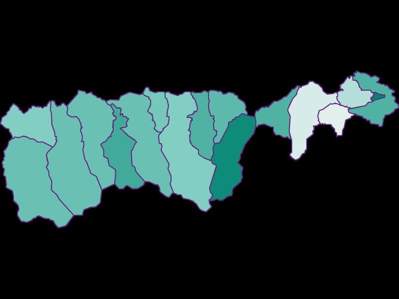 Прирост населения за 1869-2018 | Верхний и Нижний Пинцгау
