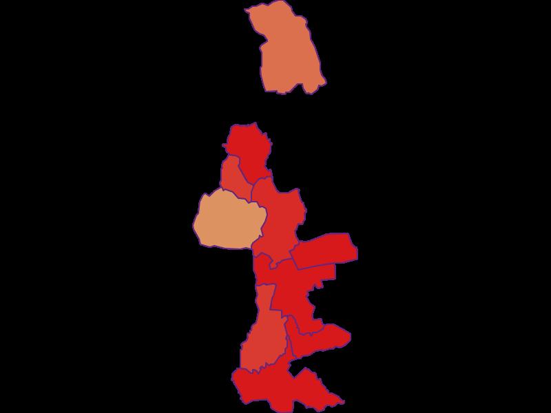 Прирост населения за 1900-2018   винный регион Южный Бургенланд