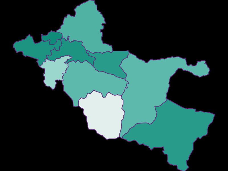 Прирост населения за 1869-2018   Зальцкаммергут