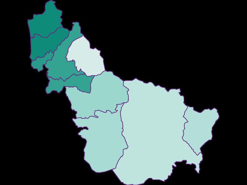 Прирост населения за 1869-2018 | Тенненгау