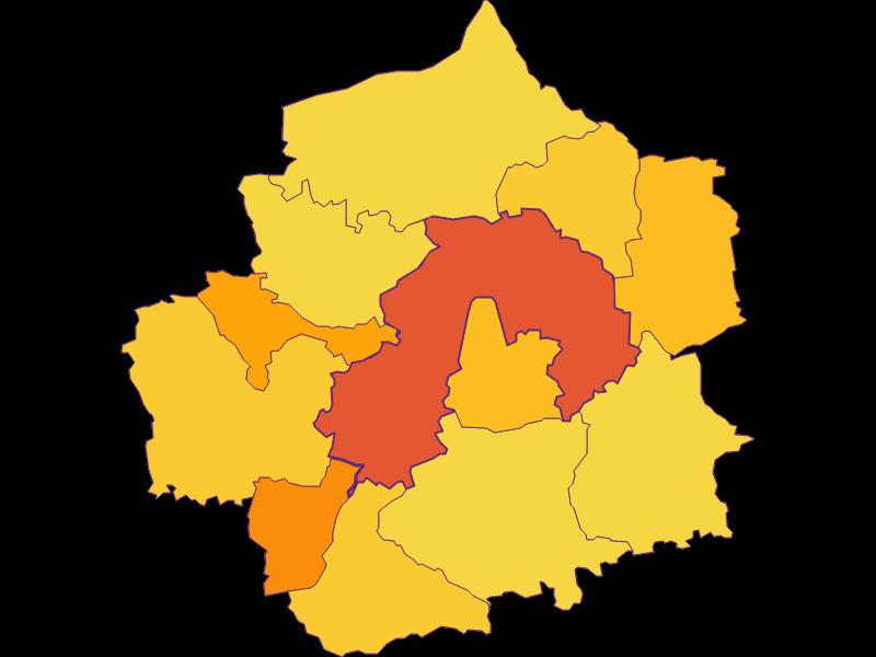 Плотность населения в Amstetten