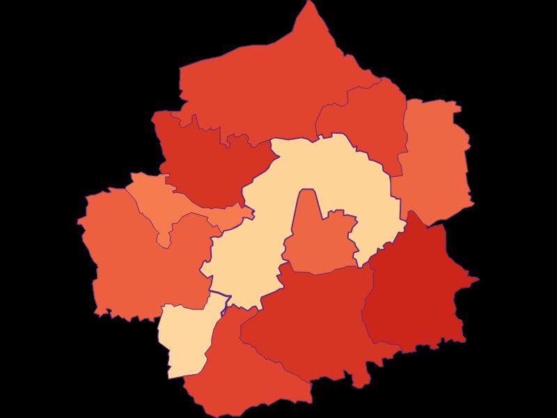 Размер домохозяйства в Amstetten