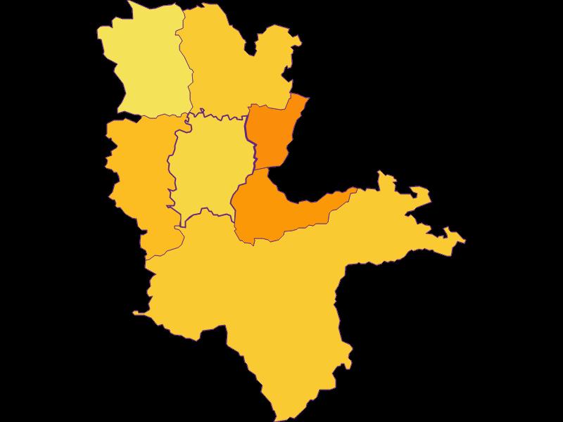 Плотность населения в Biberbach