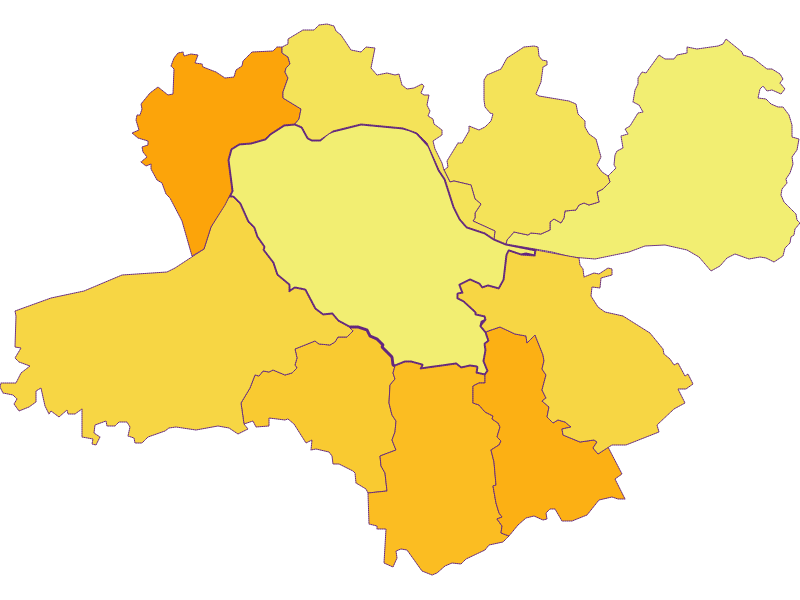 Плотность населения в Neustadtl an der Donau