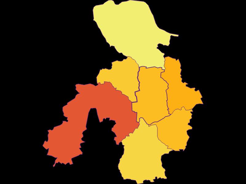 Population density in St. Georgen am Ybbsfelde