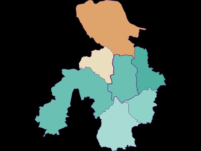 Population development since 1900 in St. Georgen am Ybbsfelde