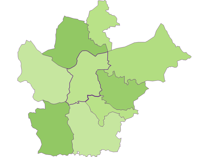 Заселенность в Wallsee-Sindelburg