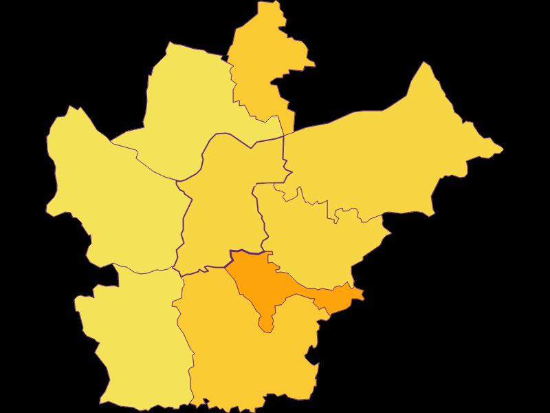 Плотность населения в Wallsee-Sindelburg