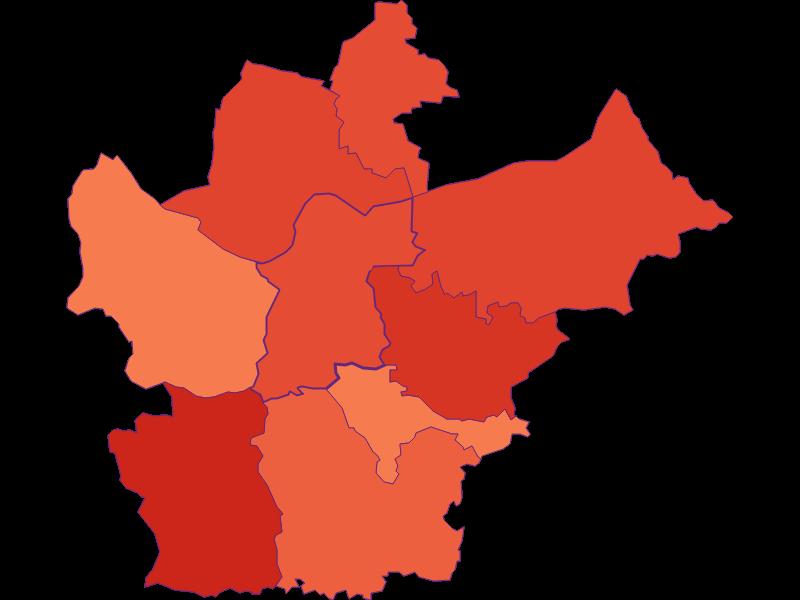 Размер домохозяйства в Wallsee-Sindelburg