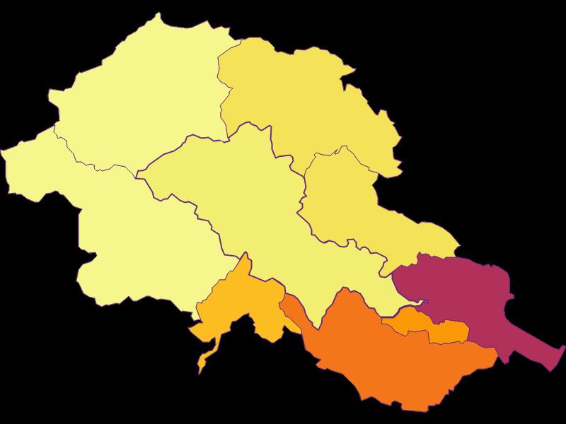 Population density in Alland