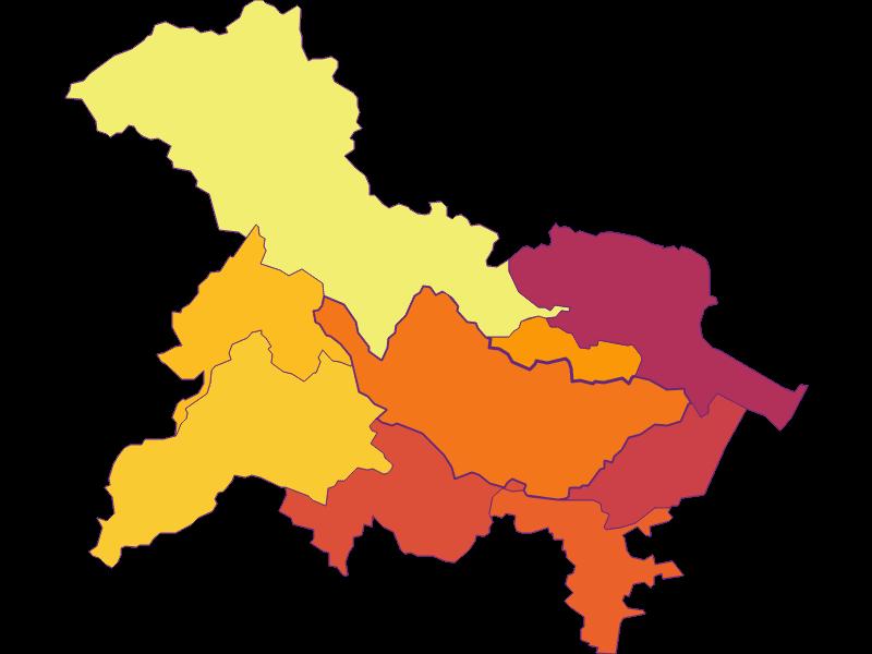 Плотность населения в Bad Vöslau