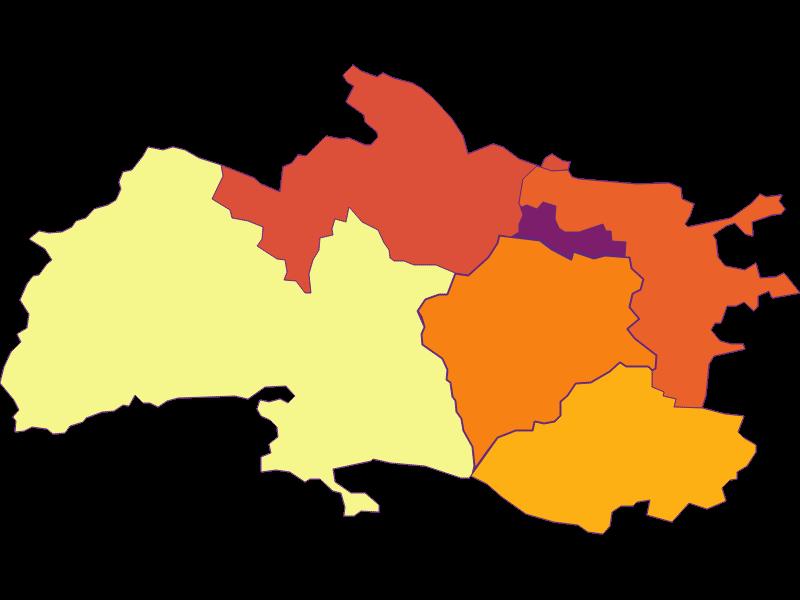 Population density in Enzesfeld-Lindabrunn