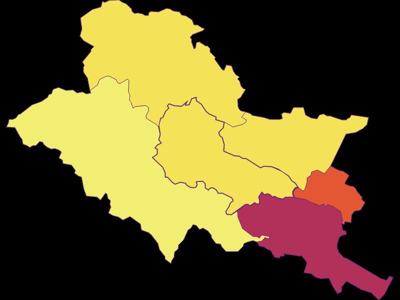 Population density in Heiligenkreuz