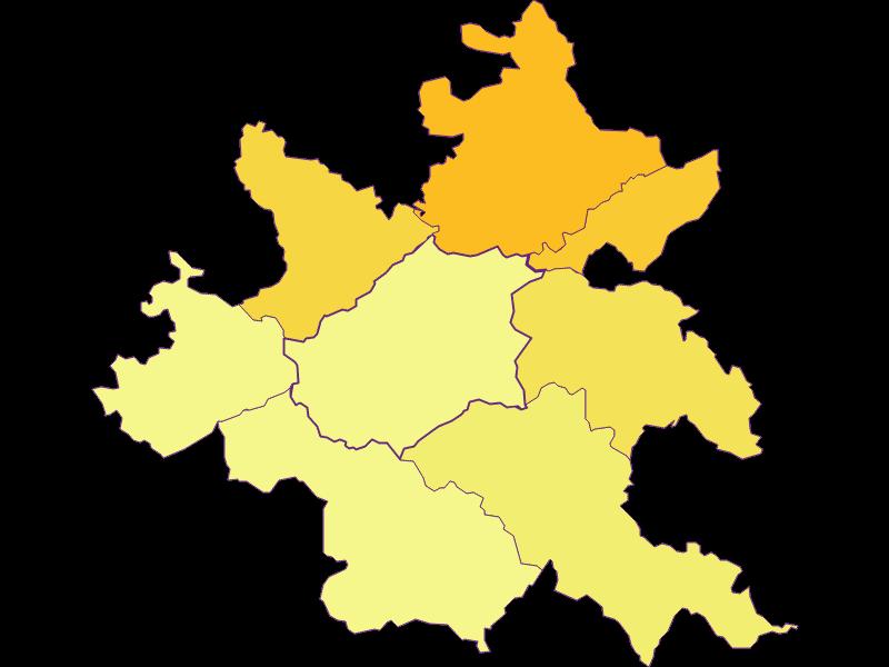 Bevölkerungsdichte in Klausen-Leopoldsdorf