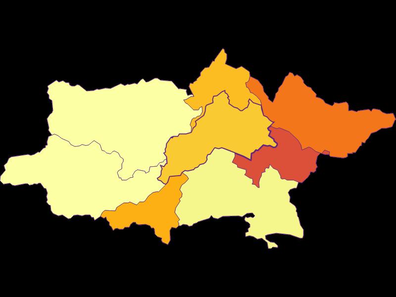 Population density in Pottenstein