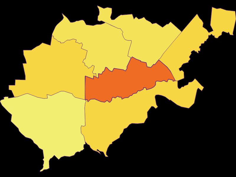 Плотность населения в Bruck an der Leitha