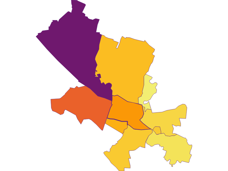Плотность населения в Fischamend