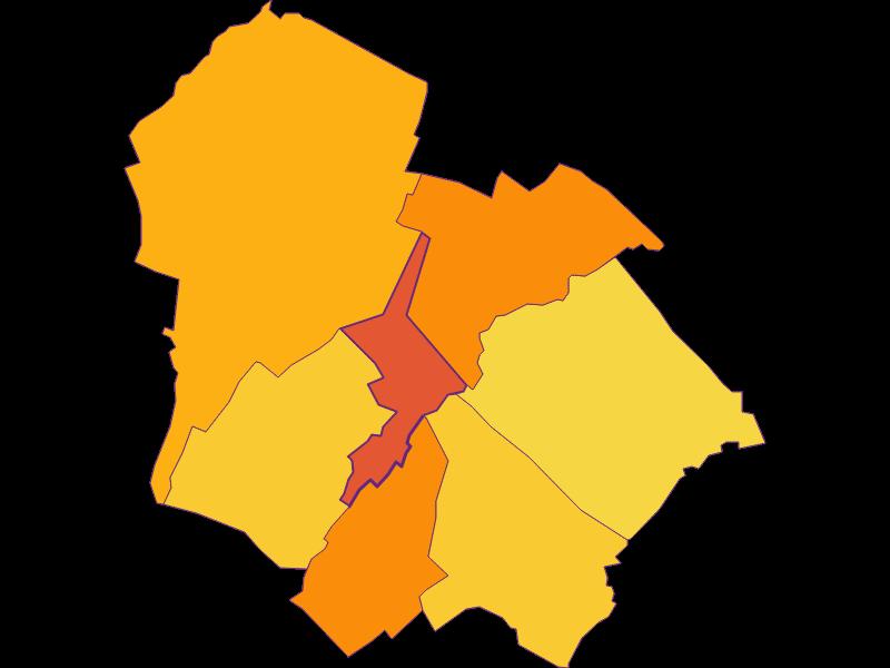 Плотность населения в Gramatneusiedl