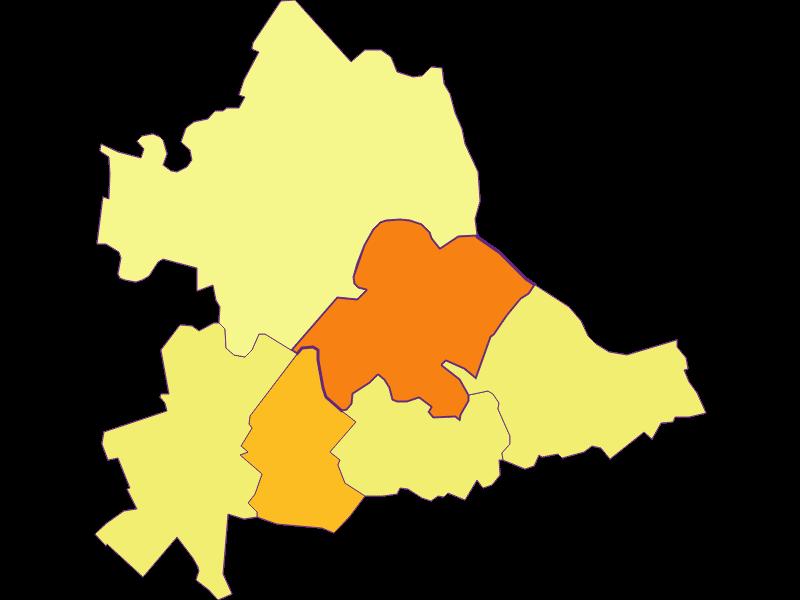 Population density in Hainburg a.d. Donau