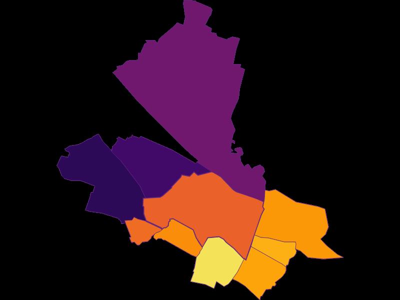 Population density in Schwechat