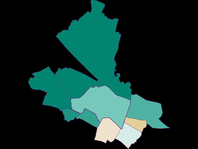 Population development since 1869 in Schwechat
