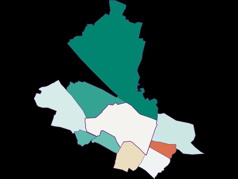 Population development since 1900 in Schwechat