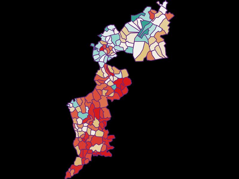 Прирост населения за 1869-2018 | Бургенланд