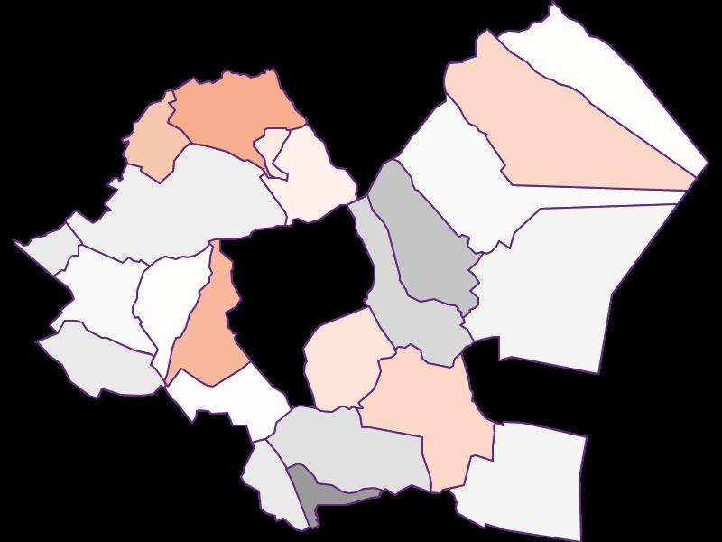Activity rate in Eisenstadt-Umgebung