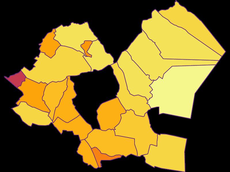Population density in Eisenstadt-Umgebung