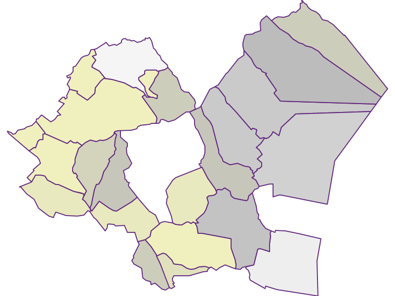 Farmers (comparison to federal state) in Eisenstadt-Umgebung