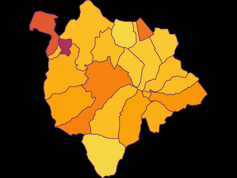 Плотность населения в Mattersburg