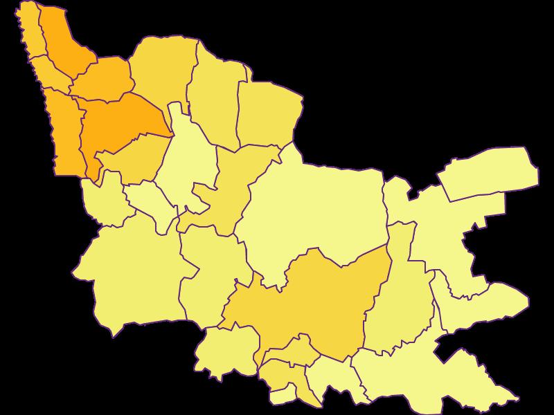 Плотность населения в Güssing