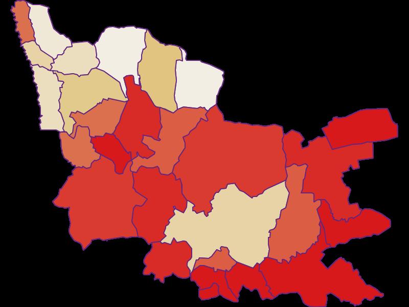 Демография с 1869 года в Güssing