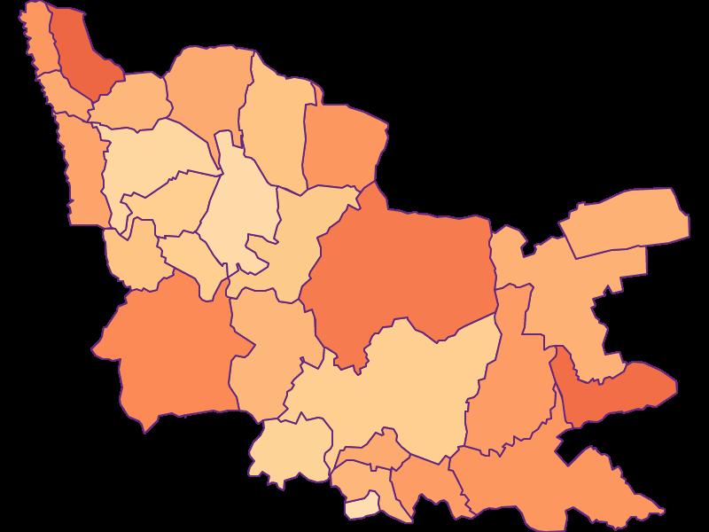 Размер домохозяйства в Güssing