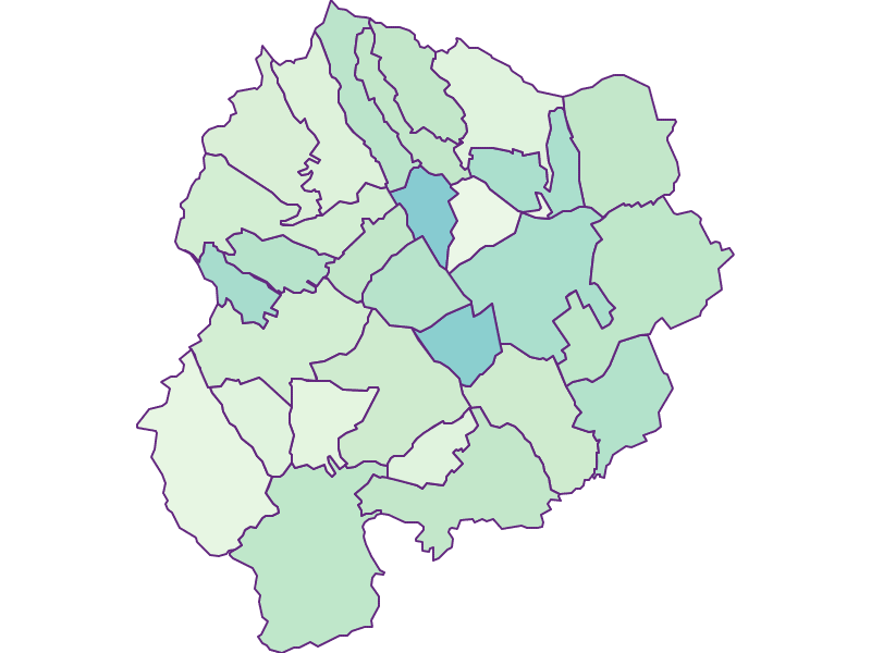 Share of foreigners in Oberpullendorf