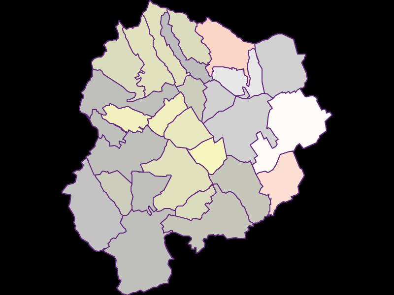Farmers (comparison to federal state) in Oberpullendorf