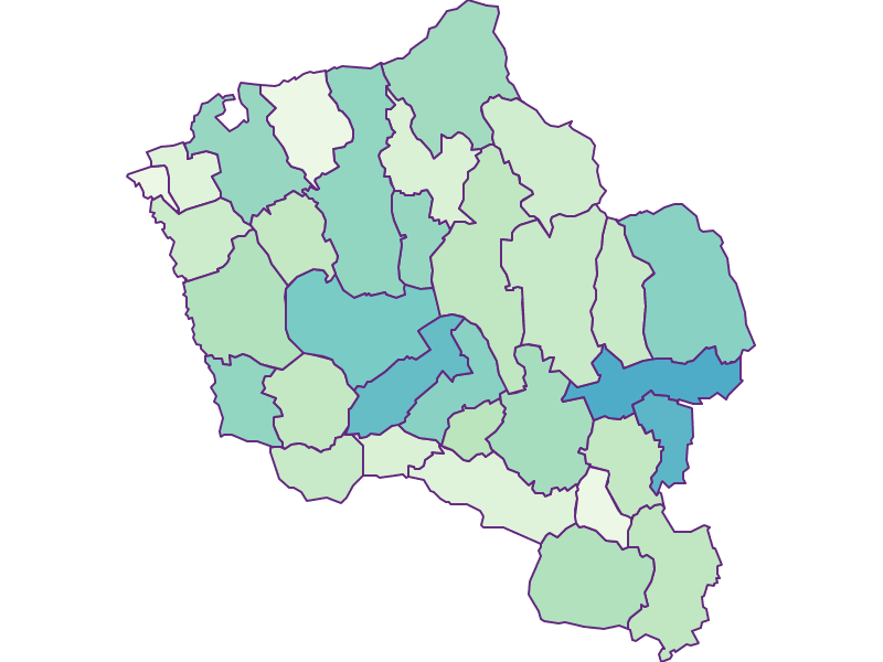 Share of foreigners in Oberwart