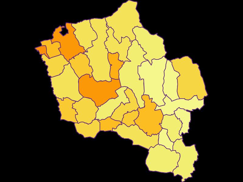 Population density in Oberwart