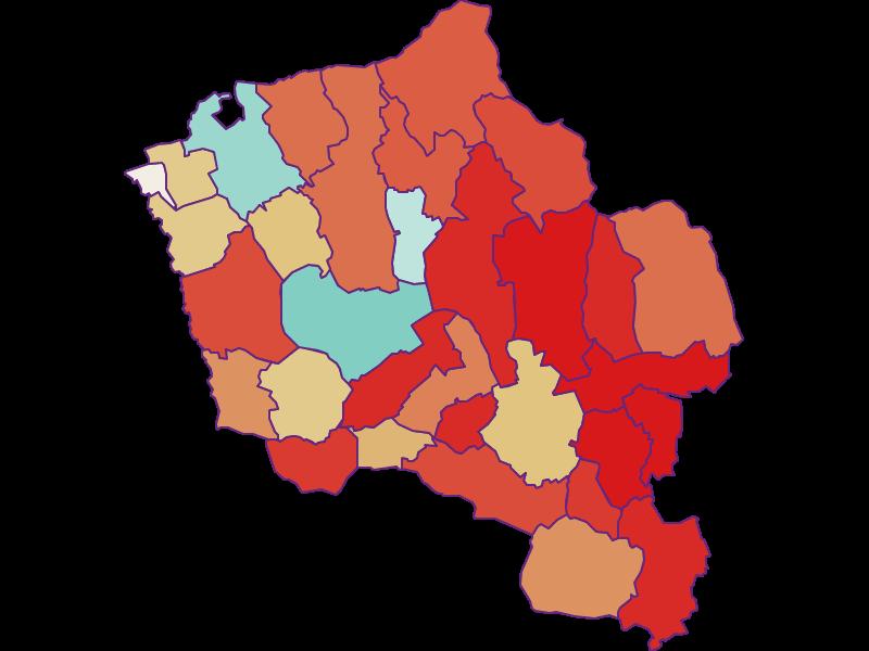 Population development since 1900 in Oberwart