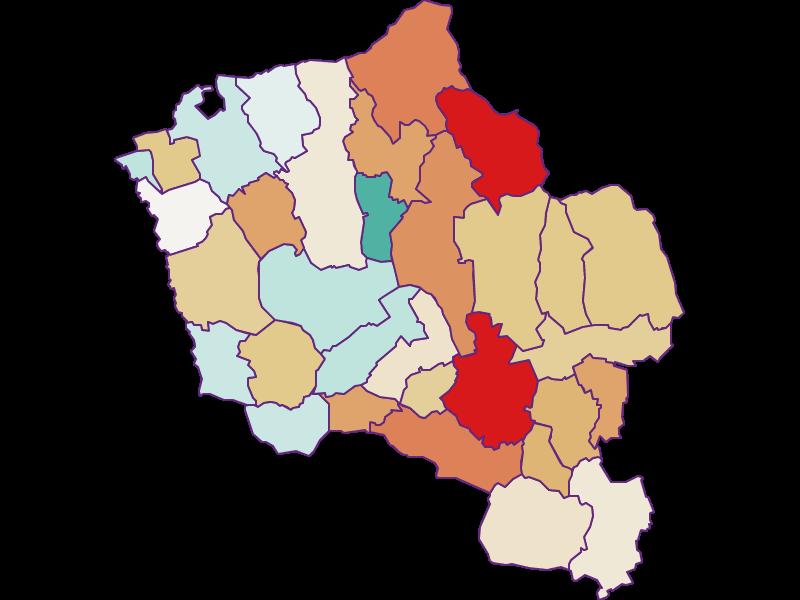 Population development since 2011 in Oberwart