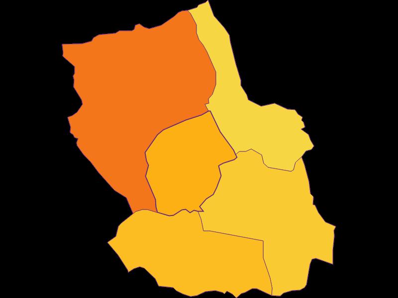 Плотность населения в Trausdorf an der Wulka